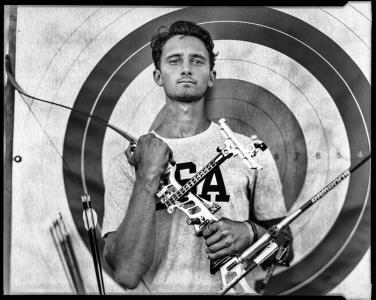 Categoría 'Gente', el tercer premio de Historias. Un joven atleta estadounidense fotografiado durante su preparación para los Juegos Olímpicos de Río de Janeiro 2016.