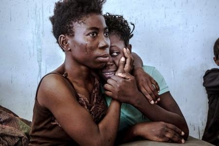Tercer premio de Historias en la categoría 'Temas contemporáneos'. La foto muestra a dos refugiadas nigerianas.